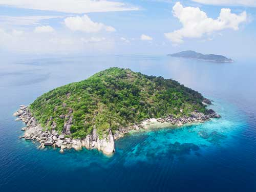 East and west similan island topography