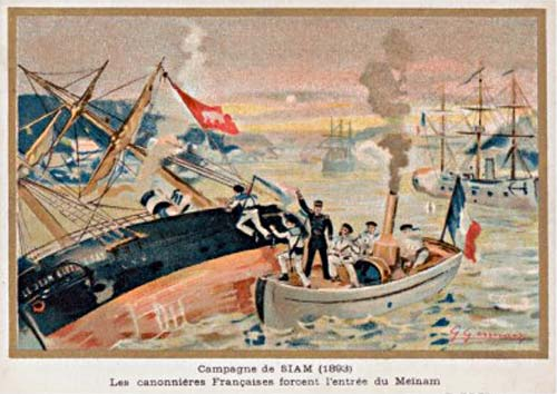 french gunboats paknam incident Siam