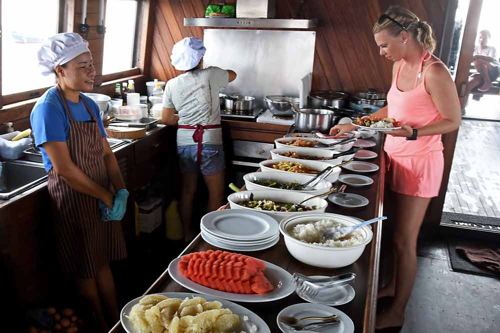 Food on the Diva Andaman Myanmar Liveabaord