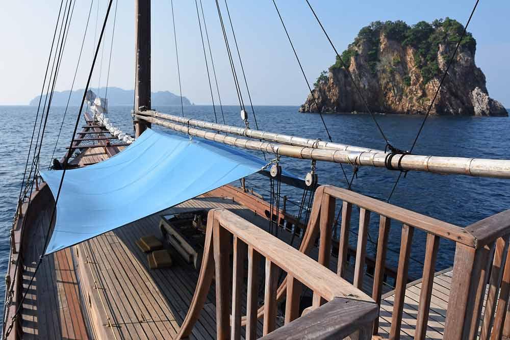 Diva Andaman sun deck sailing yacht in Myanmar