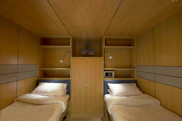 Deluxe lower deck cabin on MV Panunee