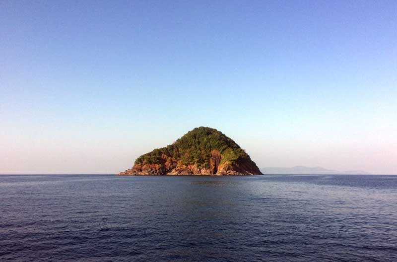 Approaching West Canister Island in Myanmar